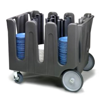 Vollrath ADC-2 Dish Caddy with Cover - 2-Posts, 4-Stacks, Adjustable, Gray
