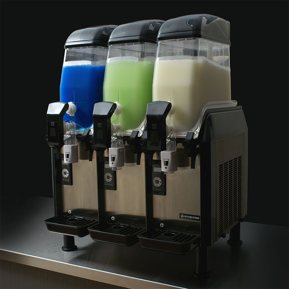 Vollrath CBE167-37 Frozen Beverage Dispenser w/ 3-Bowl & 3.2-gal Capacity, Black, 115v