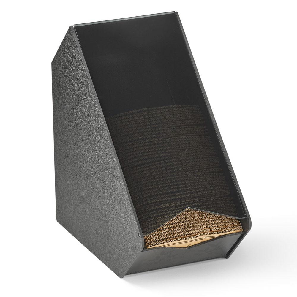 "Vollrath CSLV-2H Horizontal Coffee Sleeve Dispenser - 6.7"" x 11.13"", Plastic, Black"