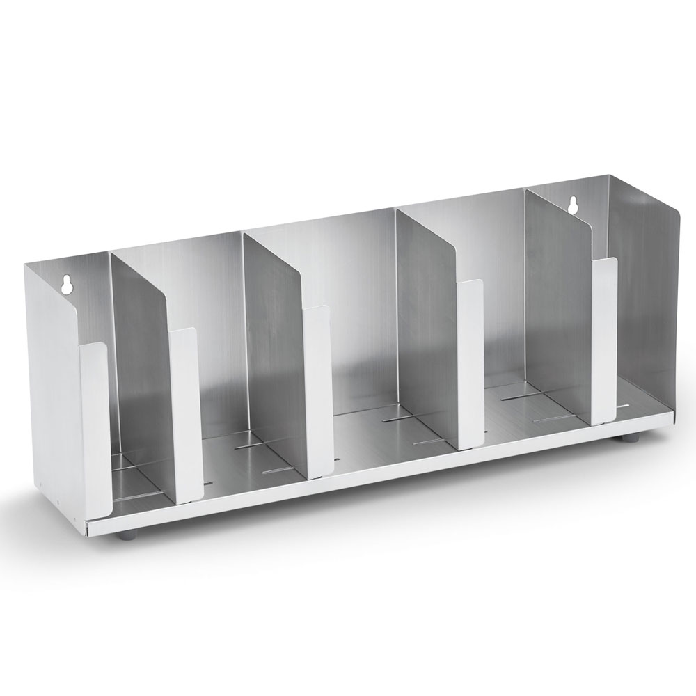 "Vollrath CTL5 5-Section Lid Organizer w/ Straw Holder - 22.5"" x 8"", Stainless"