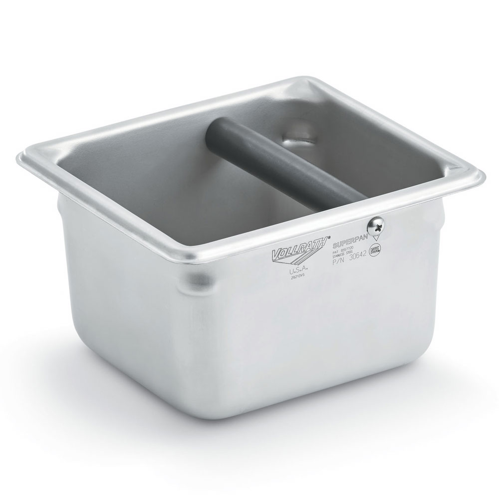 "Vollrath E06064-KB Sixth-Size Knock Box - 7"" x 6.5"" x 4"", Stainless"