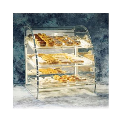 "Vollrath EBC-P Lighted European Bakery Case Package - (3)18x26"" Clear Trays"