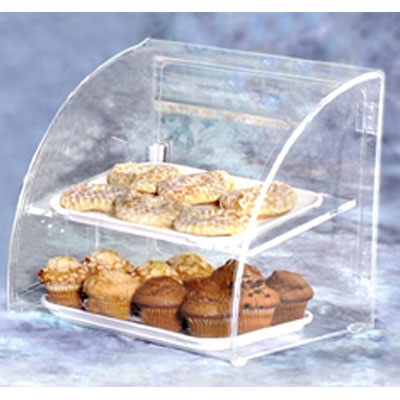 "Vollrath ESBC-2 Curved-Front Pastry Display Case -  (2)10x14"" Trays"