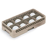Vollrath HR-1B1 Dishwasher Rack - Half-Size, 8-Compartment, Plastic, Beige