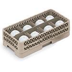 Vollrath HR-1B1BA Dishwasher Rack - Half-Size, 8-Compartment, (1)Open, (2)Compartment Extender, Beige
