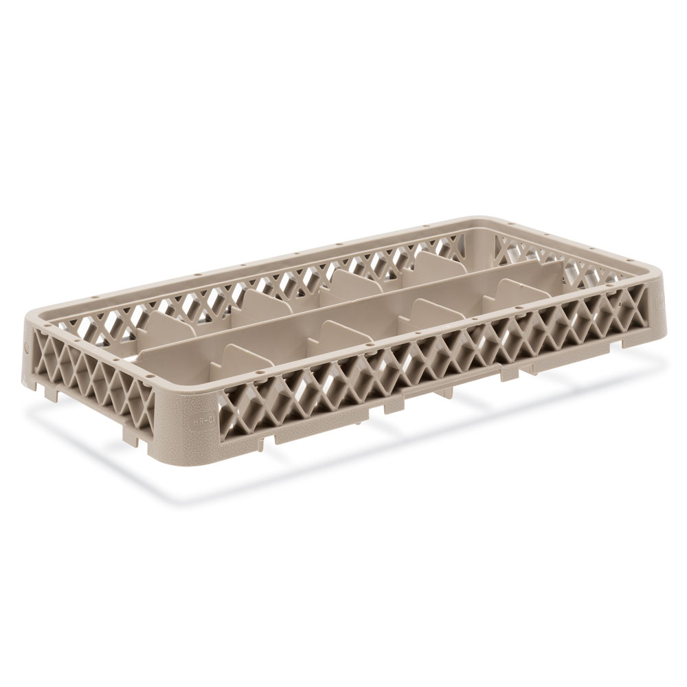 Vollrath HR-1C1 Dishwasher Rack - Half-Size, 10-Compartment, (1)Compartment Extender, Beige