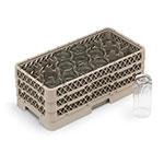Vollrath HR-1D1DA Dishwasher Rack - Half-Size, 17-Compartment, (1)Open, (2)Compartment Extender, Beige