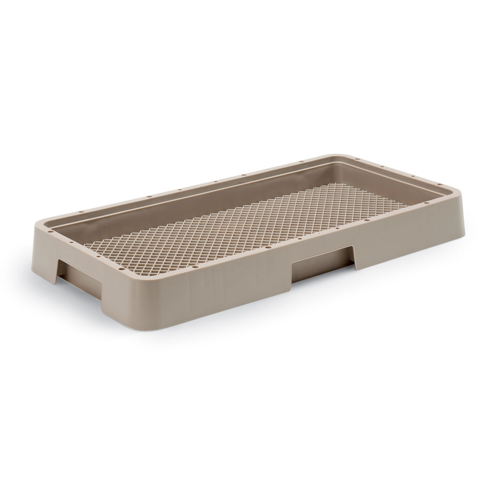 Vollrath HR-2 Dishwasher Rack w/ Handle All 4-Sides, Open, Flatware, Beige