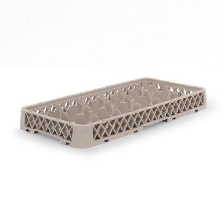 Vollrath HR-D Dishwasher Rack Extender - Half-Size, 17-Compartment, Beige