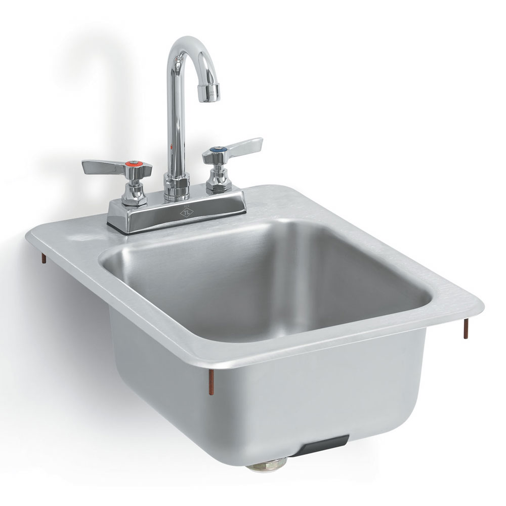 Vollrath K1734-C Yukon Bar/Waitress Drop-In Sink, Faucet, Strainer, 13x17""