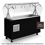 Vollrath R3896160 4-Well Cold Station with Lights - Enclosed Buffet Breath Guard, Open, Walnut 120v