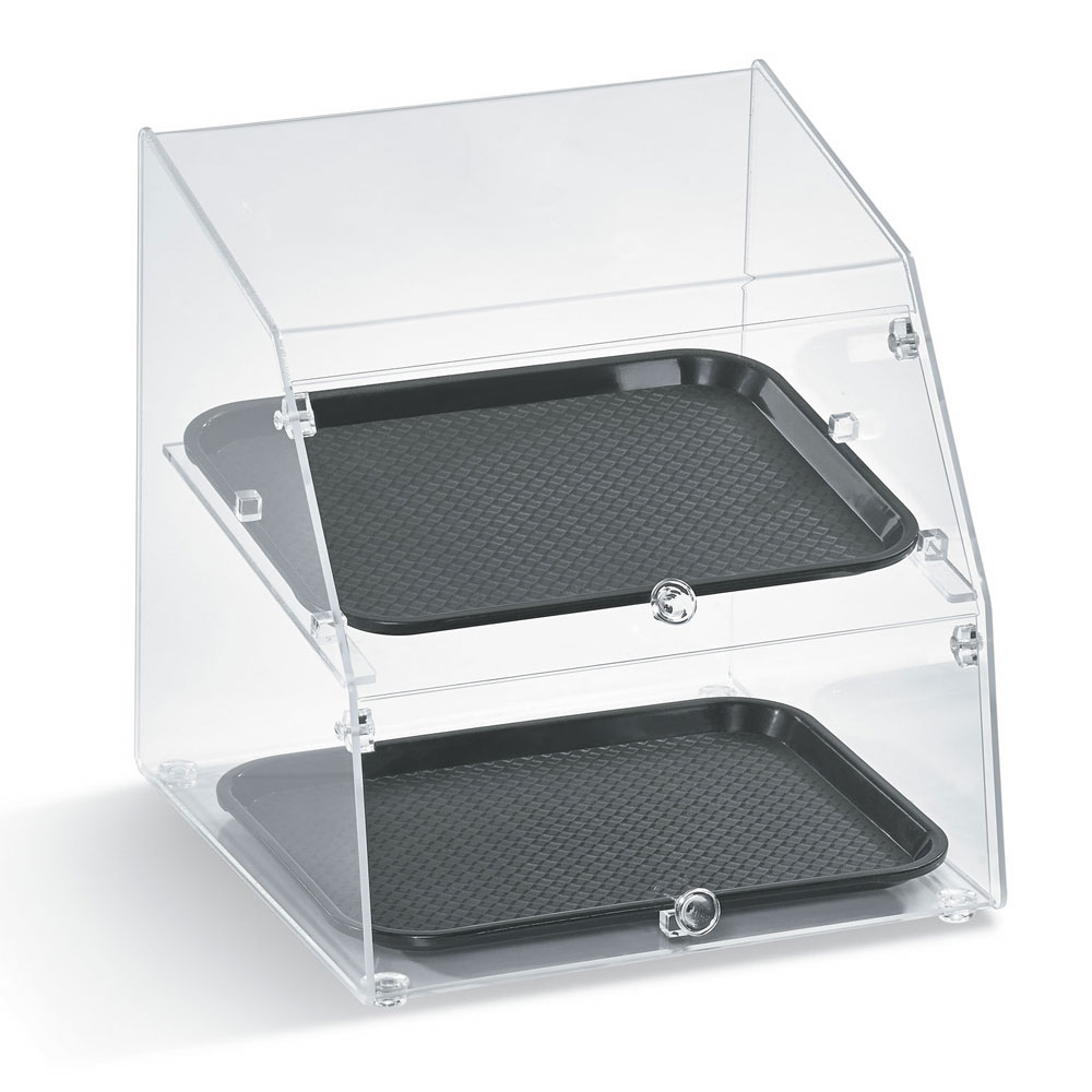"Vollrath MBC1014-3F-06 Curved-Front Pastry Display Case -  (3)10x14"" Trays"