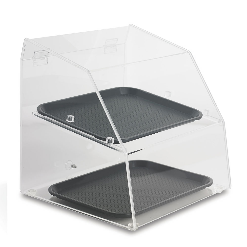 "Vollrath SBC1014-2R-06 Curved-Front Pastry Display Case -  (2)10x14"" Trays"