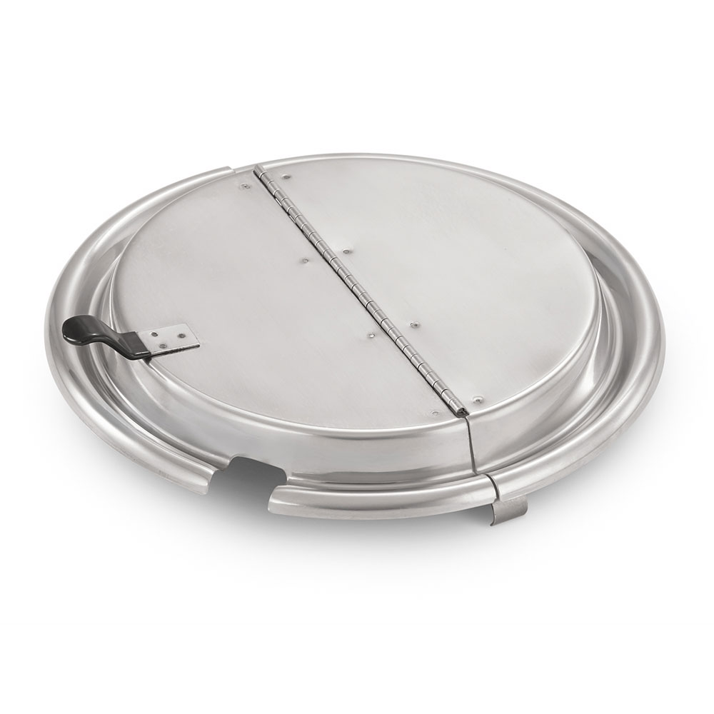 Vollrath T1105-6 Hinged Inset Cover - Cool Touch Welded Finger Flip Lever, Mirror Finish