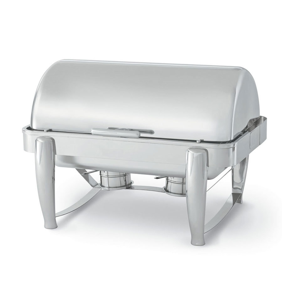 Vollrath T3600 8.5-qt Stainless D-Lux Chafer w/ Dripless Roll Top Cover
