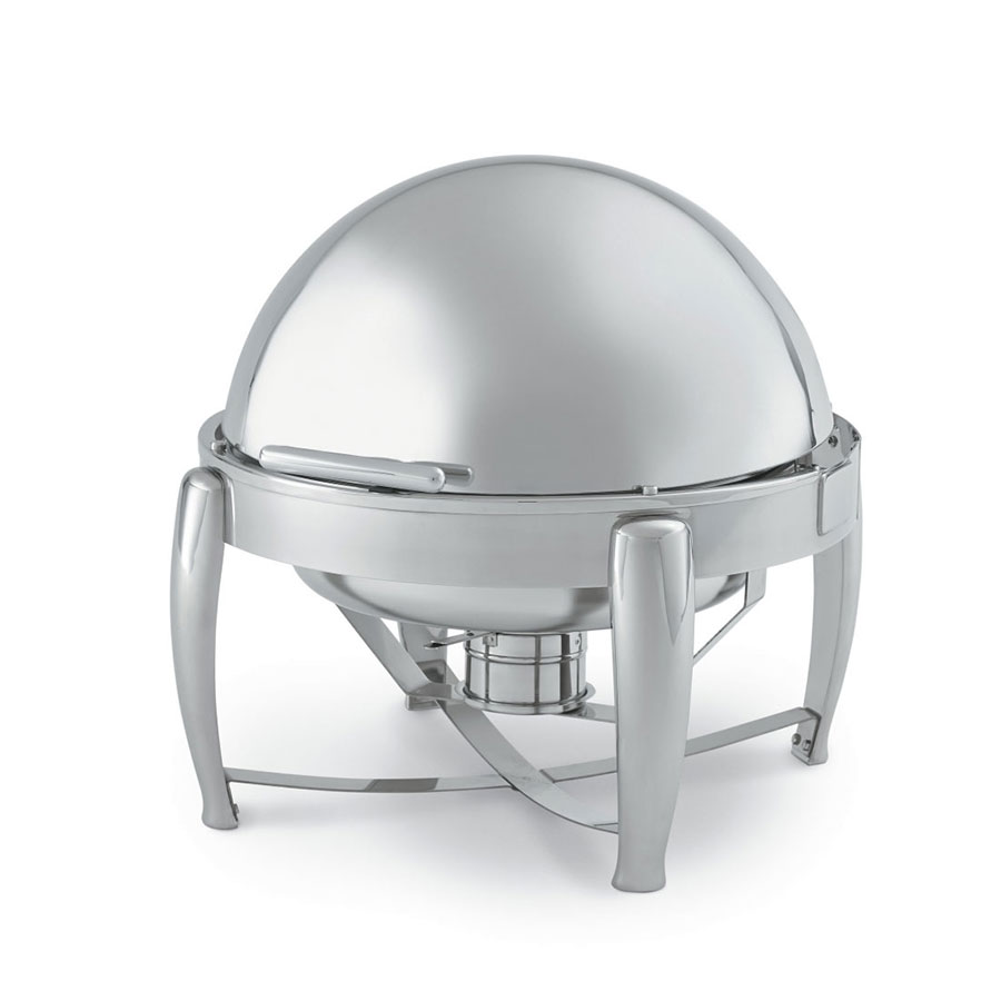 Vollrath T3605 6 1/2-qt Stainless D-Lux Round Chafer w/ Dripless Roll Top Cover