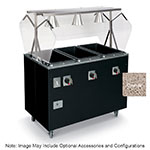 Vollrath T39732 4-Well Hot Cafeteria Unit - Storage Base, Thermostat, Manifold Drain, Granite 120v