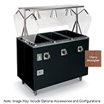 Vollrath T39771 4-Well Hot Cafeteria Unit - Open Base, Thermostat, Manifold Drain, Cherry 120v