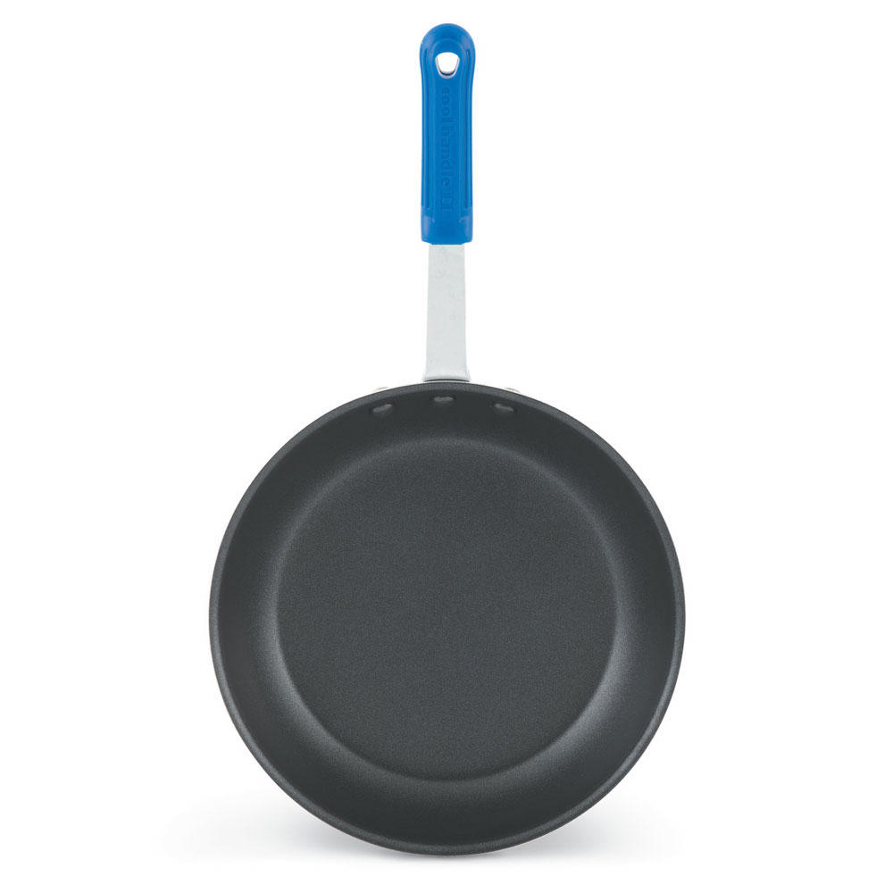 """Vollrath T4014 14"""" Non-Stick Aluminum Frying Pan w/ Solid Silicone Handle"""