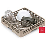 Vollrath TR-1-02 Full-Size Dishwasher Rack - Open Bottom and Sidewall, Red