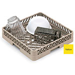 Vollrath TR-1-08 Full-Size Dishwasher Rack - Open Bottom and Sidewall, Yellow