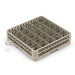 Vollrath TR-13CCCCC Full-Size Glassware Rack - Low-Profile 36-Compartment, 5-Extenders, Beige