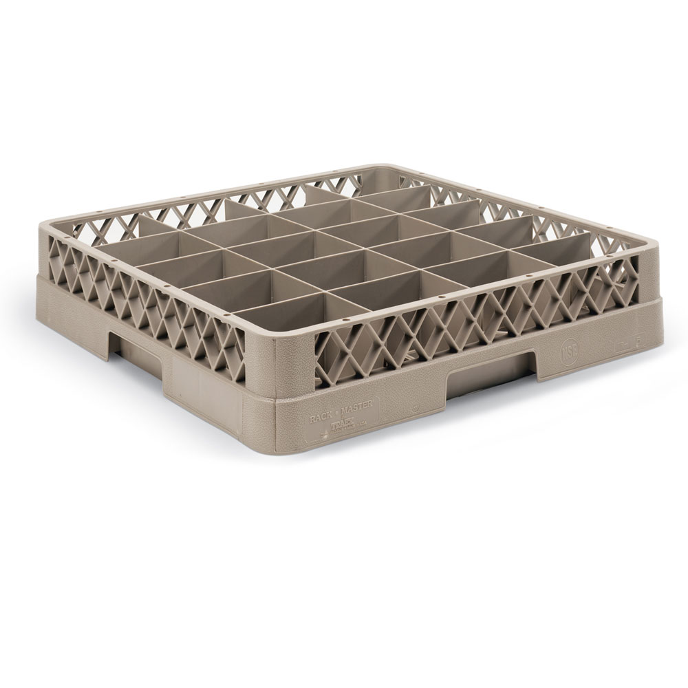 Vollrath TR-5AA Full-Size Dishwasher Cup Rack - 20-Compartment, 2-Open Extenders, Beige