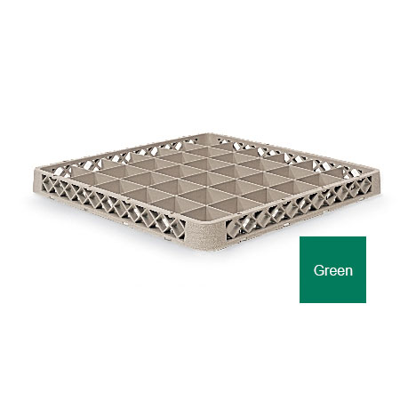 Vollrath TR-C-19 Full-Size Dishwasher Rack Extender - 36-Compartment, Green