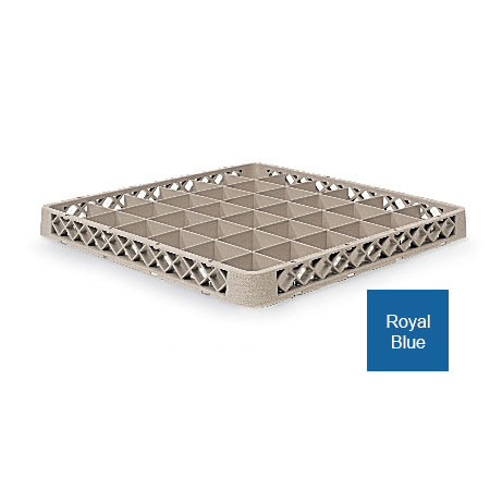 Vollrath TR-C-44 Full-Size Dishwasher Rack Extender - 36-Compartment, Royal Blue