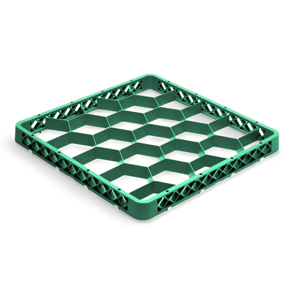 Vollrath TR-G-19 Full-Size Dishwasher Rack Extender - 20-Compartment, Green