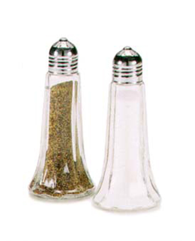 Vollrath 1002 1.5-oz Salt & Pepper Shaker - Glass with Chrome Top