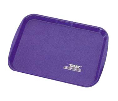 "Vollrath 1014-44 Rectangular Food Tray - Linen Look, 10-9/16 x 14-1/4"", Royal Blue"