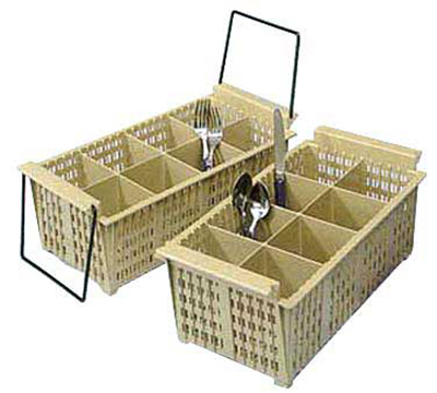 "Vollrath 1372 Flatware Basket - 8-Compartment, Handles, 16-7/8x8-1/8x5-7/8"", Beige"