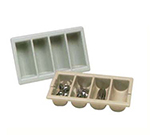 Vollrath 1375-06 Four-Compartment Cutlery Box - Handles,