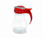 Vollrath 1412-02 Dripcut Server Jar, 10-oz, Clear Poly Jar w/ Red Plastic Top