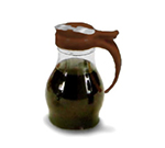 Vollrath 1414-01 Dripcut Server Jar, 16-oz, Clear Poly Jar w/ Brown Plastic Top