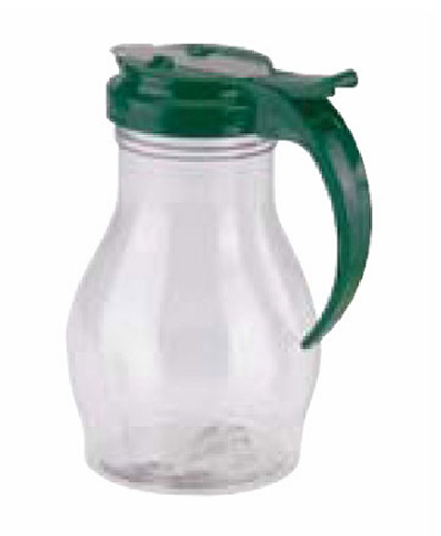 Vollrath 1414-191 16-oz Syrup Server - Green Plastic Cap, Poly, Clear