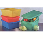 "Vollrath 1527-C08 Food Storage Box - Molded Handles, 20x15x7"", Yellow"
