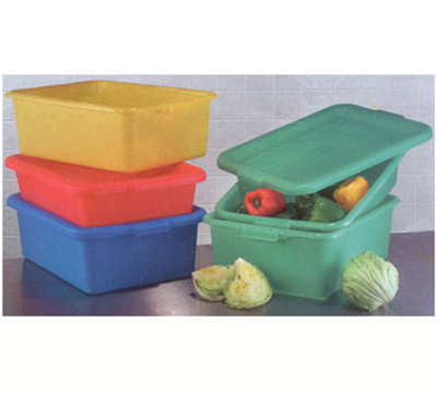 "Vollrath 1527-C04 Food Storage Box - Molded Handles, 20x15x7"", Blue"