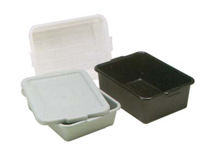 "Vollrath 1521B-31 Deluxe Bus Box - Tapered Side Walls, 15 x 20 x 5"", Plastic, Gray"