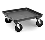 "Vollrath 1697-06 Dolly Base - Single Stack, 21x21"", Black"