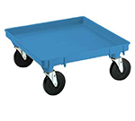 "Vollrath 1697-44 Dolly Base - Single Stack, 21x21"", Blue"