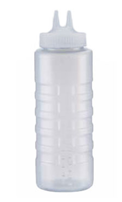Vollrath 2332-13 32-oz Twin Tip Squeeze Bottle - Wide Mouth, Clear