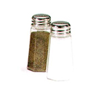 Vollrath 302 Salt & Pepper Shaker w/ Poly Panel Jar & Stainless  Top, 2-oz,