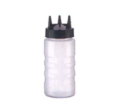 Vollrath 3316-13 16-oz Squeeze Bottle - Wide Mouth, Clear Cap, Clear