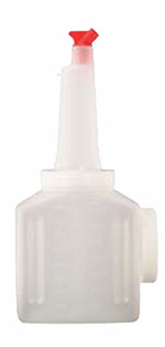 Vollrath 3664 Bar Keep Jar Pack - (6)1/2-Gal Jars, Assorted Color Spouts