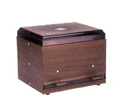 "Vollrath 3845-12 Double-Side Giant Straw Dispenser - 500 Capacity, 9x7-1/2x7"" Walnut Woodgrain"
