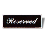 Vollrath 4135 Tabletop Reserved Sign - 3x9