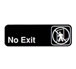 Vollrath 4508 No Exit Sign, 3 x 9-in, White-On-Black