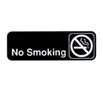 Vollrath 4513 No Smoking Sign, 3 x 9-in, White-On-Black